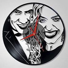 Hodiny - Párik - vinyl clocks - 6662718_