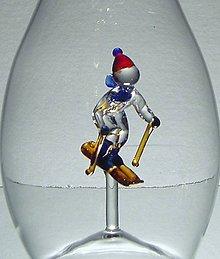 Nádoby - Fľaša s volejbalistom, lyžiarom alebo futbalistom - 6662614_