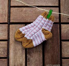 Topánočky - Detské ponožky malilinké ružové - 6662442_