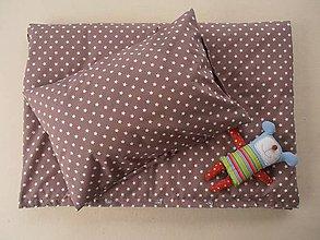 Úžitkový textil - Návliečky do postieľky bavlna De Luxe Star hviezda hnedá - 6660246_