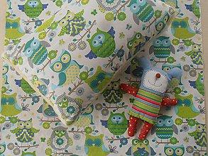 Úžitkový textil - Sovičky bavlnené návliečky do postieľky - 6662697_