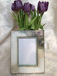 """Rámiky - drevený rámček na fotku """"Vintage garden"""" - 6662699_"""