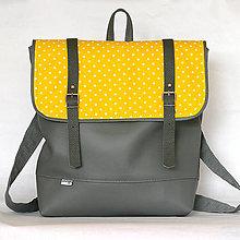 Batohy - Batoh (Sivo-žlto-bodkovaný) - 6659341_