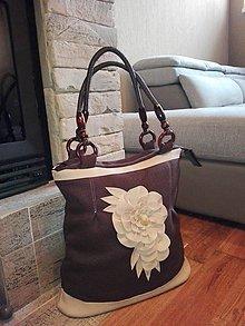 Veľké tašky - Elegantná čokoládová - 6661589_