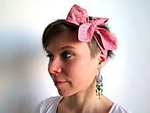 Ozdoby do vlasov - retro textilná čelenka na uväzovanie - 6660270_