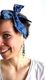 Ozdoby do vlasov - retro textilná čelenka na uväzovanie - 6660276_