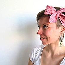 Ozdoby do vlasov - retro textilná čelenka na uväzovanie - 6660268_