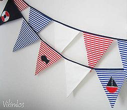 Detské doplnky - Námornícke vlajky... - 6662663_