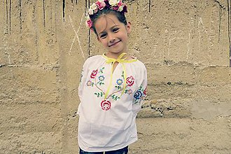 Detské oblečenie - tú vašu dcérušku Aničku, čo ju nosím vo dne v noci v srdiečku - 6661959_