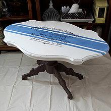 Nábytok - Francúzsky stolík s pásmi :) - 6660382_