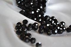 Korálky sklenené brúsené čierne 4mm, 0.20€/10ks