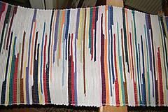 - Tkaný koberec bielo- pestrý - 6660308_