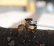 "Prstene - Tepané obrúčky ""po daždi"" žlté lesklé - 6665362_"