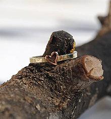 Prstene - 1x alebo prstienok so srdiečkom - 6665390_
