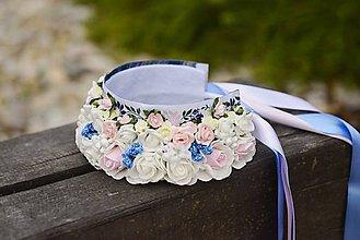 Ozdoby do vlasov - parta na čepčenie by michelle flowers - 6663704_