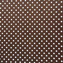 Textil - Filc s potlačou - 20x30 cm, hrúbka 1 mm - bodkovaný, hnedý - 6664257_