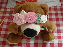 Detské doplnky - Kvetinková čelenka - 6664371_