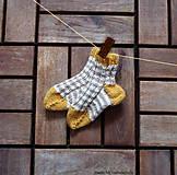 Detské ponožky malilinké béžové