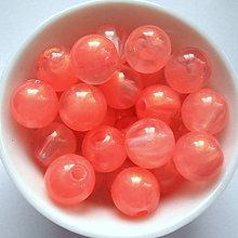 Korálky - SUNNY plast 10mm-10ks (ružová) - 6666627_