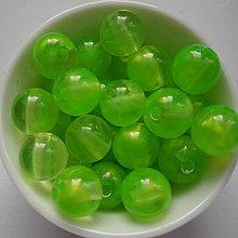 Korálky - SUNNY plast 10mm-10ks (zelená) - 6666636_