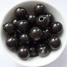 Korálky - SUNNY plast 10mm-10ks (čierna) - 6666675_