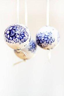 Dekorácie - Modré dekoračné gule - 6665107_