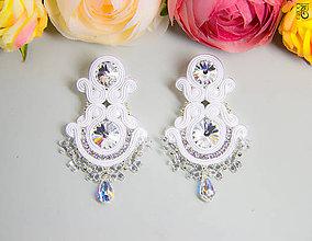 Náušnice - Veľké svadobné náušnice Vesna - 6664436_