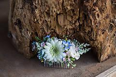 Ozdoby do vlasov - Kvetinový nežný hrebienok