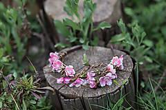 Ozdoby do vlasov - Kvetinová jarná čelenka
