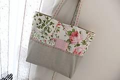 Nákupné tašky - Nákupní taška - Romantická - ekotaška s výšivkou - 6664880_