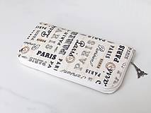 Peňaženky - Zipová peněženka - Paříž - 20cm, 14 karet - 6664987_