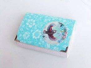 Peňaženky - Ptačí snění - peněženka i na karty - 6664544_