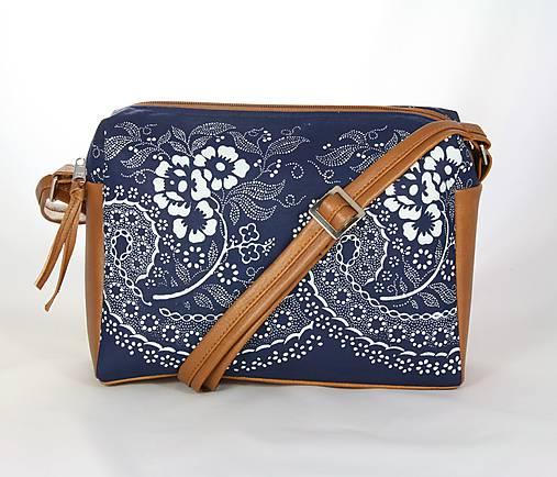 modrotlačová kabelka Rebeka hnedá 4