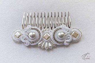 Ozdoby do vlasov - Hrebienok s perlami - 6663164_
