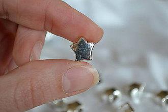 Korálky - Pandorková korálka hviezda 10mm, 0.30€/ks - 6664338_