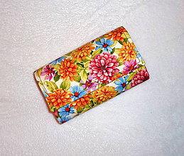 Peňaženky - Peňaženka - Farebné kvety. - 6662967_