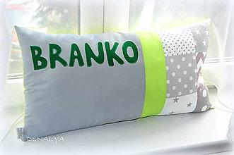 Textil - Vankúš s menom z kolekcie STAR 40x60cm - 6670389_