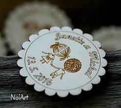 Darčeky pre svadobčanov - Magnetky pre svadobných hostí DETI - 6670126_