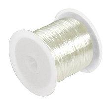 Galantéria - Elastický silikónový vlasec 0,6mm /10m - 6669265_