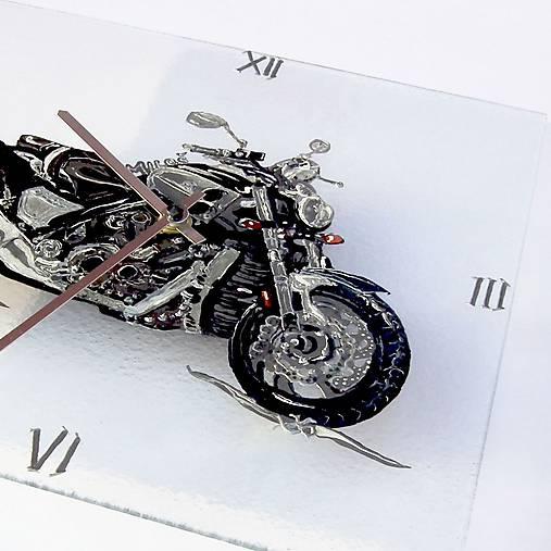 Maľované hodiny Motorka - Yamaha VMAX