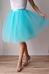 Sukne - Zavinovacia sukňa mentolová - 6670802_