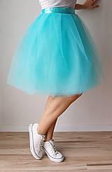 Sukne - Zavinovacia sukňa mentolová - 6670815_