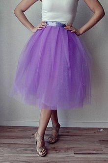 Sukne - Tylová sukňa Levanduľová - 6670351_