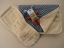 Textil - Merino Wool Blanket and  Bugaboo Universal Seat Liner grey - 6670845_