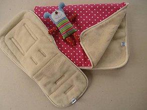 Textil - Merino Wool Blanket and Bugaboo Universal Seat Liner Rose - 6670920_
