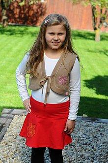 Detské oblečenie - krátka suknica ,, scribbled Daisy