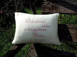 Úžitkový textil - Vankúš pre mamičku - 6667210_