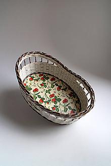 Košíky - Košík papierový - Jahoda - 6670809_