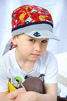 Detské čiapky - Letná pirátka Ostrov pokladov - 6671406_