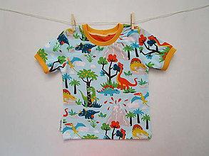 Detské oblečenie - Tričko s dinosaurami - veľkosť 86/92 - 6675830_